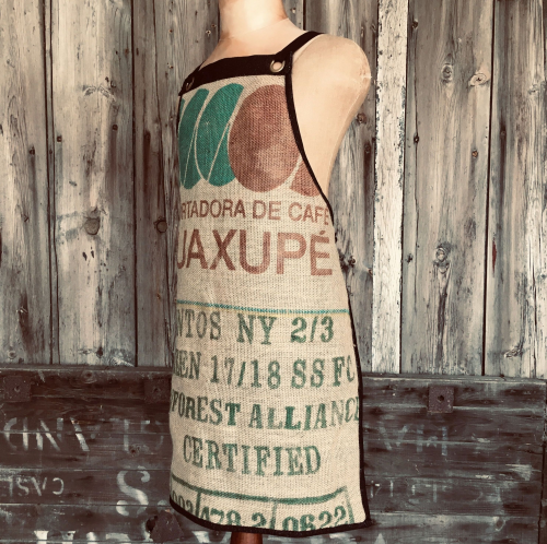 Recycled Coffee Bean Bag Apron - Lined