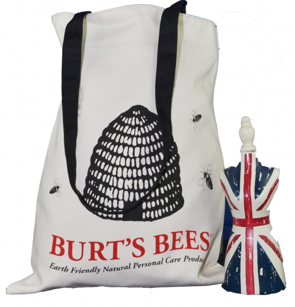 Burt's Bees an example of an organic tote bag made in Britain