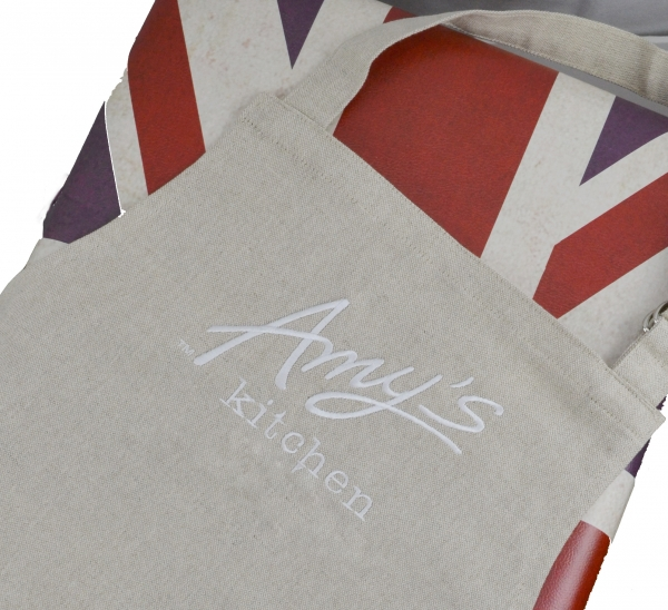 Aprons made in Britain apron This example was made from yarn woven in the UK Britian