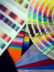 We dye fabric to match your panotone company colours